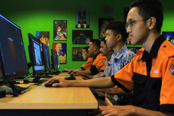 kegiatan praktek jurusan Animasi di SMK Negeri 2 Cimahi